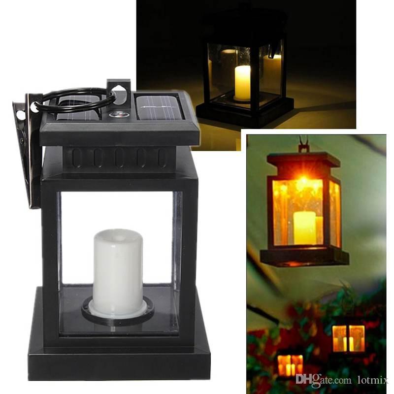 Lantern Solar Power Twinkle LED Candle Solar Light Outdoor Lighting Garden Yellow Light Yard Umbrella Tree Hanging Lamp
