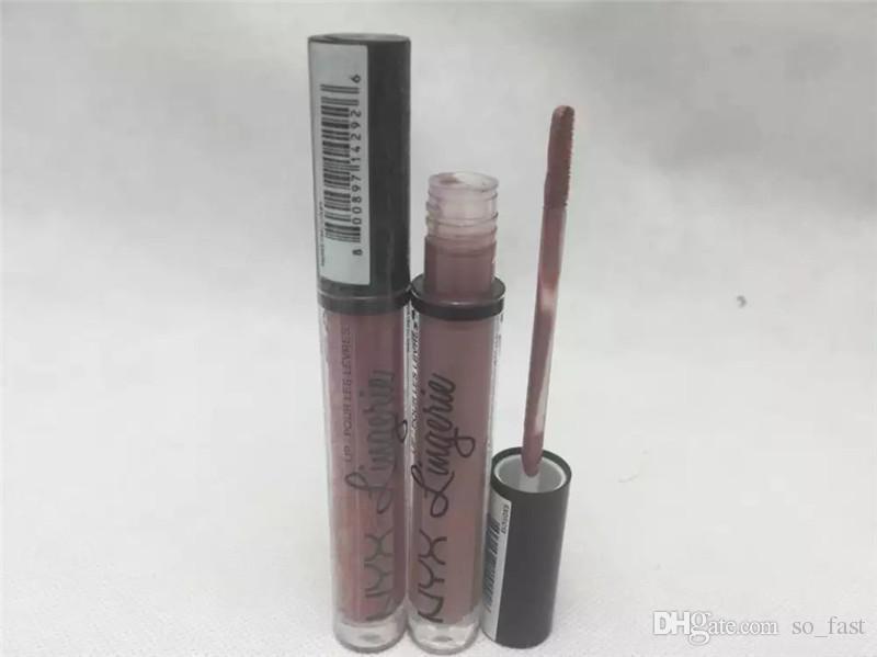 Direct d'usine! NYX lèvres lingerie lèvres crème lèvres brillant Lipstick vintage longue durée 4ml Professional Maquillage DHL livraison gratuite