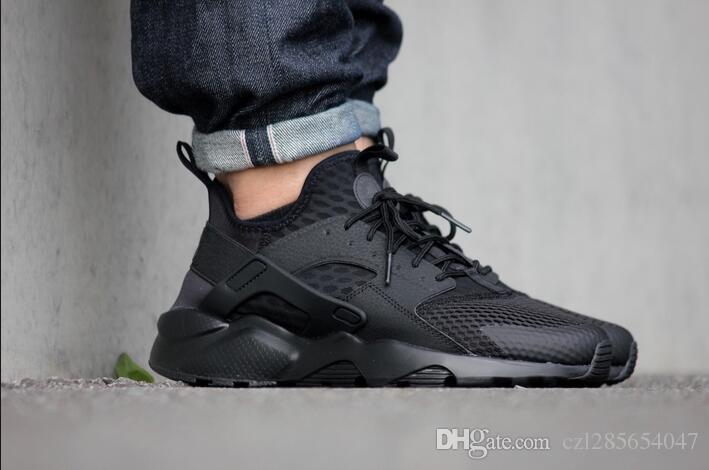 2017 Huarache Ultra All Black Running Shoes Sneakers Women And Mens High  Quality Run Ultra BR Walking Shoes With Box Shoes On Sale Ladies Running  Shoes From ... 7d954120ad