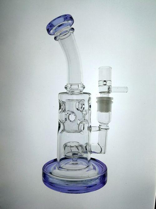 Purple straight fab egg glass bongs fab eggo holes perc smoking glass bongs recycle oil rigs smoking glass water pipes