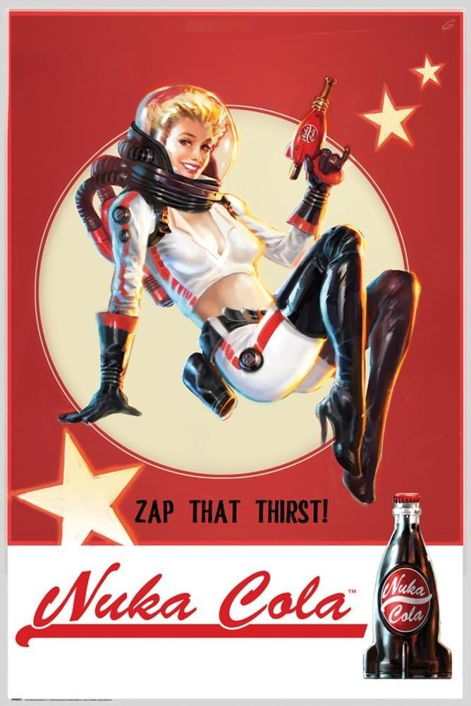 Nuka Cola Custom Hd Home Decor Retro Classic Vintage Movie Poster Print 50x75cm Wall Sticker Wallpapers High