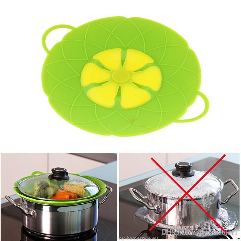 Silicone Lid Spill Stopper Silicone Cover Lid For Pan Cooking Tools Flower Cookware Parts Kitchen Tools