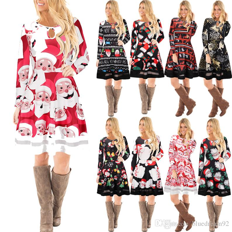 857a401b9b4 Christmas Costume Party Dress Women Casual Designer Dresses Santa Claus  Printing Plus Size Night Club Vestidos Dresses For Womens Shop For Womens  Dresses ...