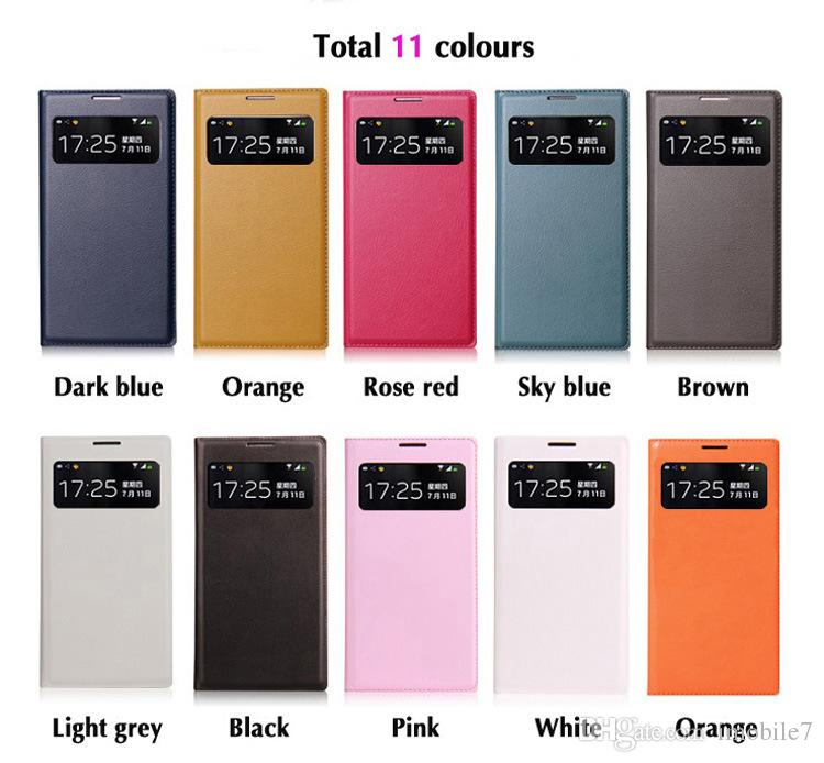 حالة الهاتف المحمول ل Samsung Galaxy S4 mini i9190 Cute Luxury Flip Case Case Etui Coque View Window Phone Mobile MobileMobile P