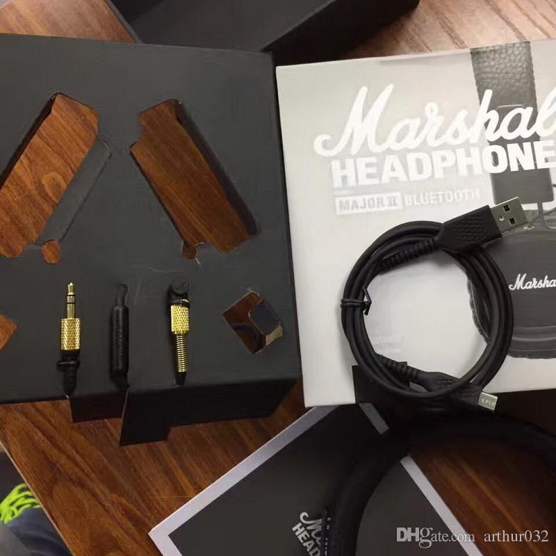 Marshall Major II 2.0 Bluetooth Casque Sans Fil DJ Casque Deep Bass Isolation Du Casque Écouteur pour iPhone Samsung Téléphone Intelligent