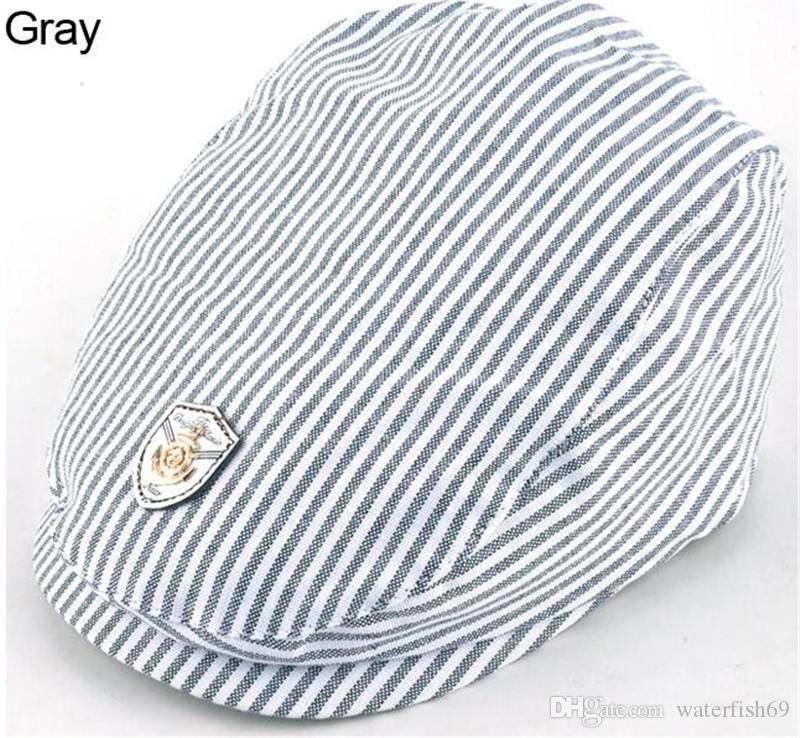 Fashion Infant Kids Baby Cool Boy Girl Child Stripes Peaked Baseball Beret Cap Sun Hat