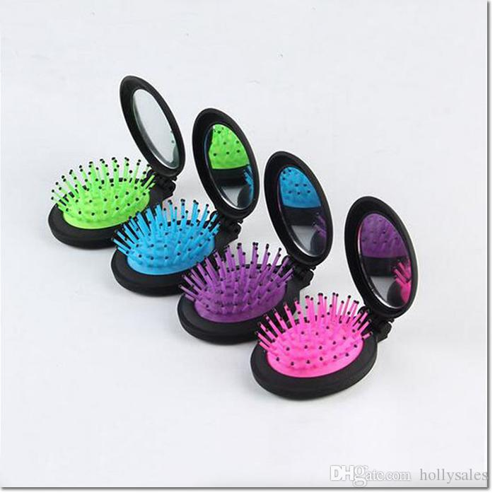 hot selling portable colorful makeup kit migic comb kit with mirror for outdoor travel for girl women dhl
