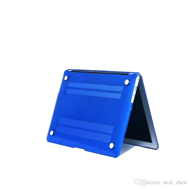 """Plastic Hard Shell Cover Case [Crystal] For Apple Macbook Air Pro Retina 11.6"""" 13.3"""" 15.4"""" A1370 A1465 A1369 A1466 A1278 1286 A1398 A1425"""