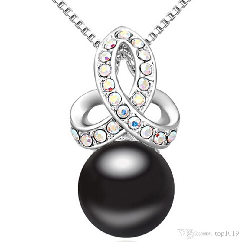 Wholesale womens pendants necklaces austria cz white gold plated wholesale womens pendants necklaces austria cz white gold plated chinese mother of pearl gemstone fashion jewelry wholesale price gold chain necklace ruby aloadofball Images
