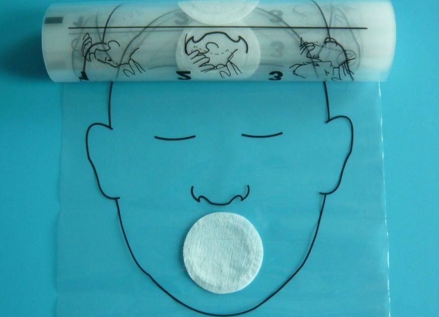 CPR Face Shield قناع الوجه CPR من الفم إلى الفم Provent Touch للتدريب على الإسعافات الأولية ، / roll