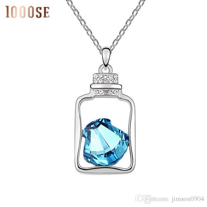 2017 nuevo A genuino SWAROVSKI Elements Crystal Necklace con colgante de joyas al por mayor - botella de venta creativa