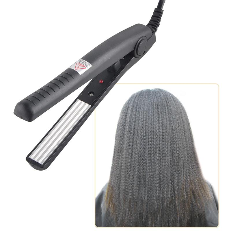 Electric Hair Straighteners traightening Corrugated Iron Hair Crimper Corn Plate Mini Ripple Styling Corrugation Styling Tools 0604089