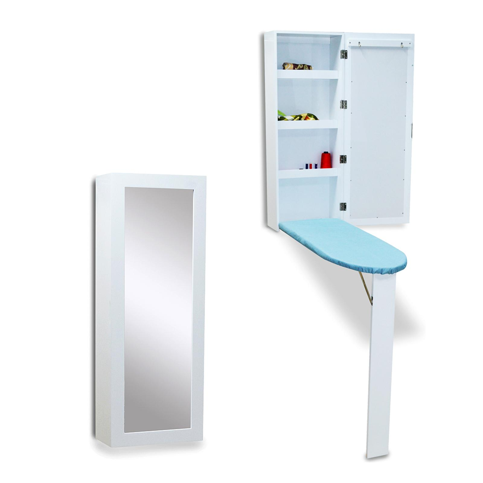 2018 Wood Ironing Board Iron Cabinet Hang In The Wall Folding With Dressing  Mirror Stock In Usa From Fashionyourlife, $124.63 | Dhgate.Com