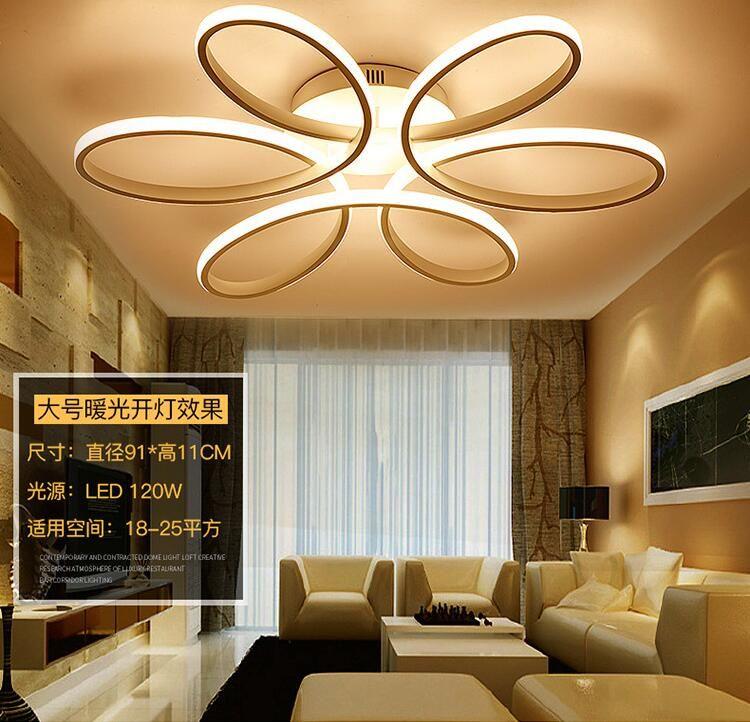 Minimalisme moderne LED Plafonnier Lustre éclairage En Aluminium Fleur Led Plafonnier Luminaire pour Salon Salle À Manger Chambre