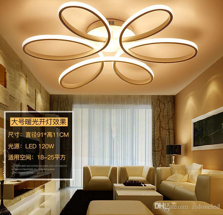 Modern Minimalizm LED Tavan Avize aydınlatma Alüminyum Çiçek Oturma Odası Yemek Odası Yatak Odası için Led Tavan Işık Fikstürü