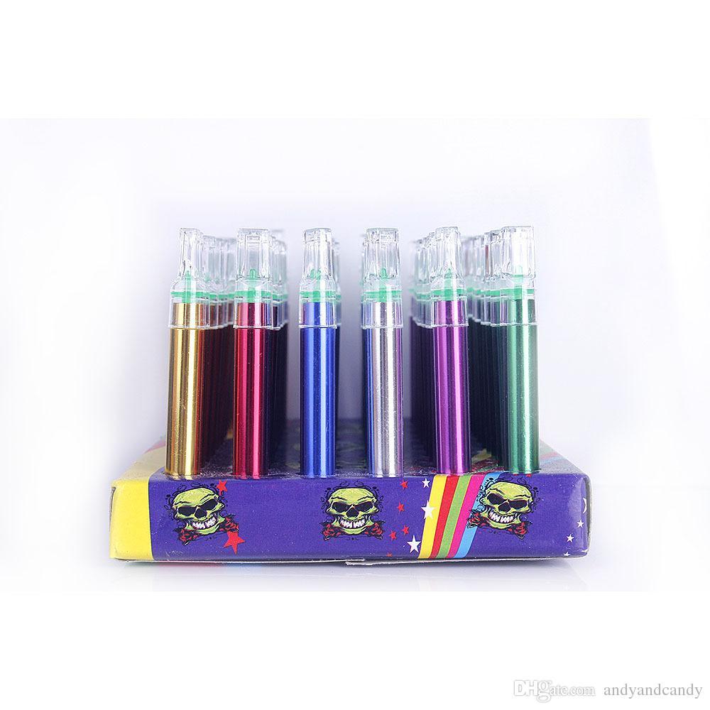 Mini Tubos de Metal Brillantes Portátil Colorido Recto Tubo de Fumar Para los Accesorios de Humo de Tabaco es Impresionantes Regalos Favorable Novedad
