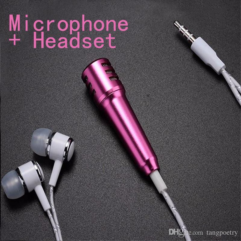 Acheter Mini Microphone à Condensateur Avec Casque écouteur Pour