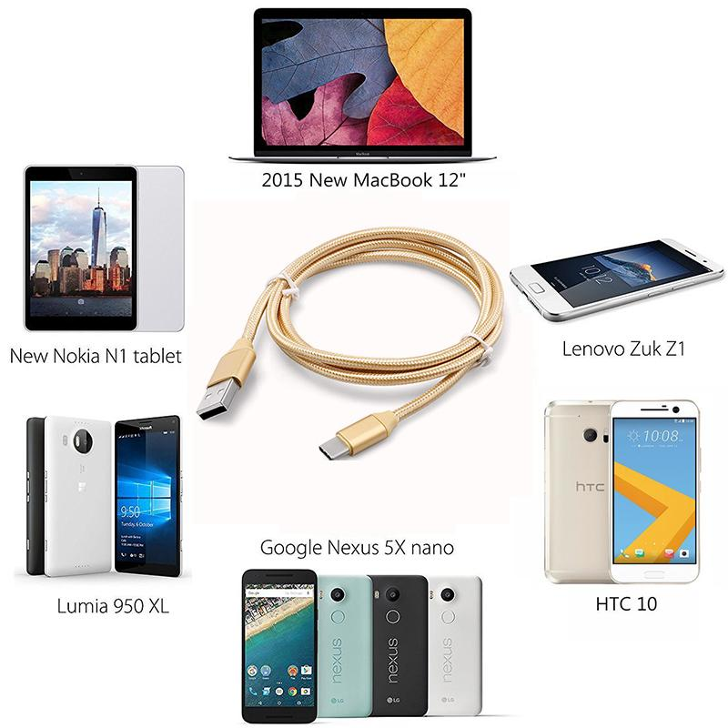 10pcs NEW 2m/3m Rapidly Type C 3 1 Data Sync Quick Charger Cable For Huawei  P10 / Plus Mate9 / For Samsung other type-c Android mobile phone
