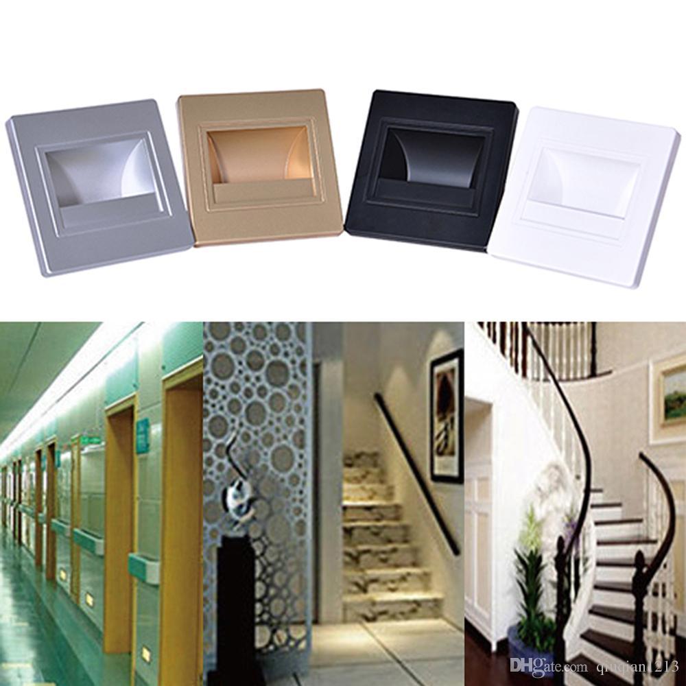 0.6 واط 85-265 فولت جدار محمص راحة الدرج خطوة مصابيح فندق الممر مسار footlight led ليلة الرواق الشرفة أضواء