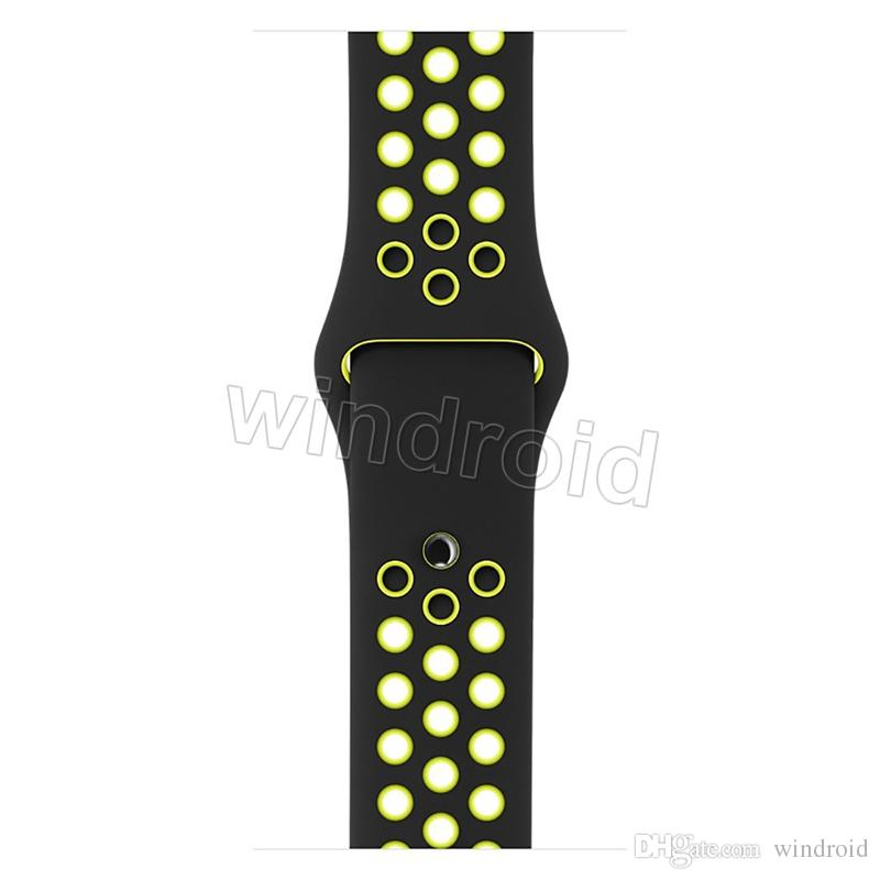 Hot sale Sport Silicone More Hole Straps Bands For Apple Watch Series 1/2 Strap Band 38/42mm Bracelet VS Fitbit Alta Blaze cheap