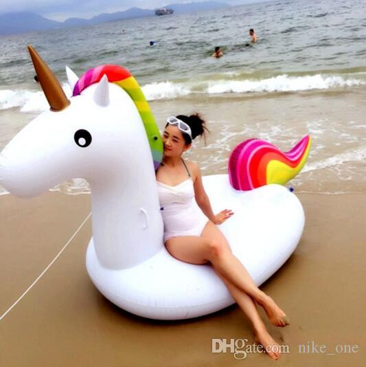 275X140X120CM Swimming Inflatable Floats Unicorn Beach Pool Toys Adult Kids Outdoor Sport Giant Swimming Pool Ride-on Water Toy Play Funny