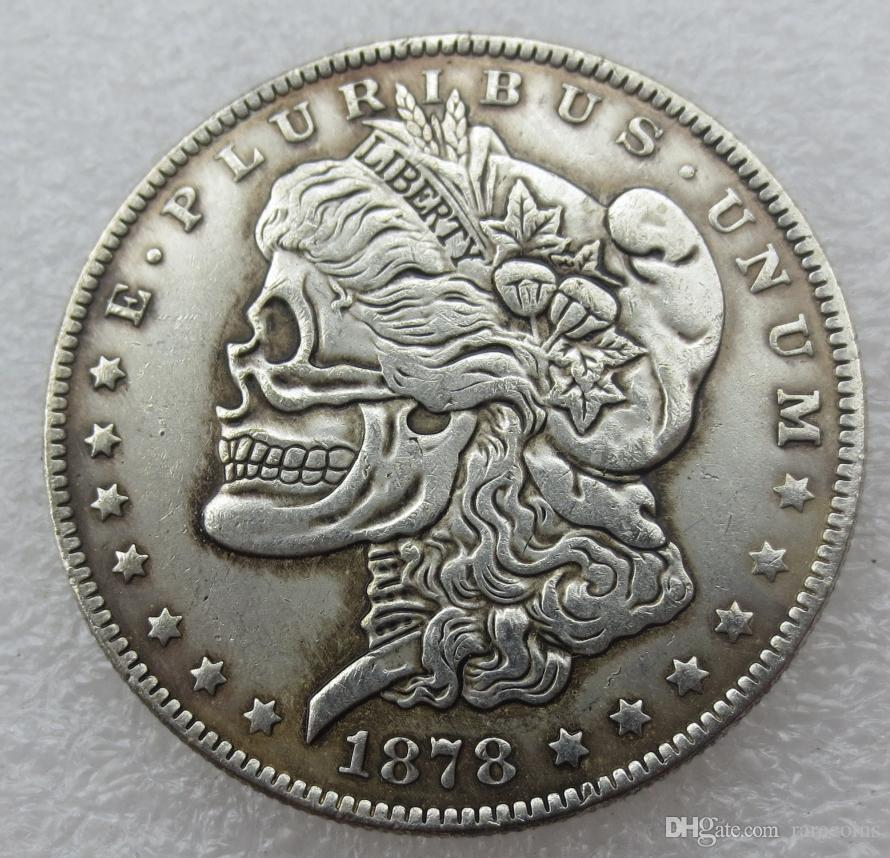 Us Head To Head Two Face 1878 1879 Morgan Dollar Skull