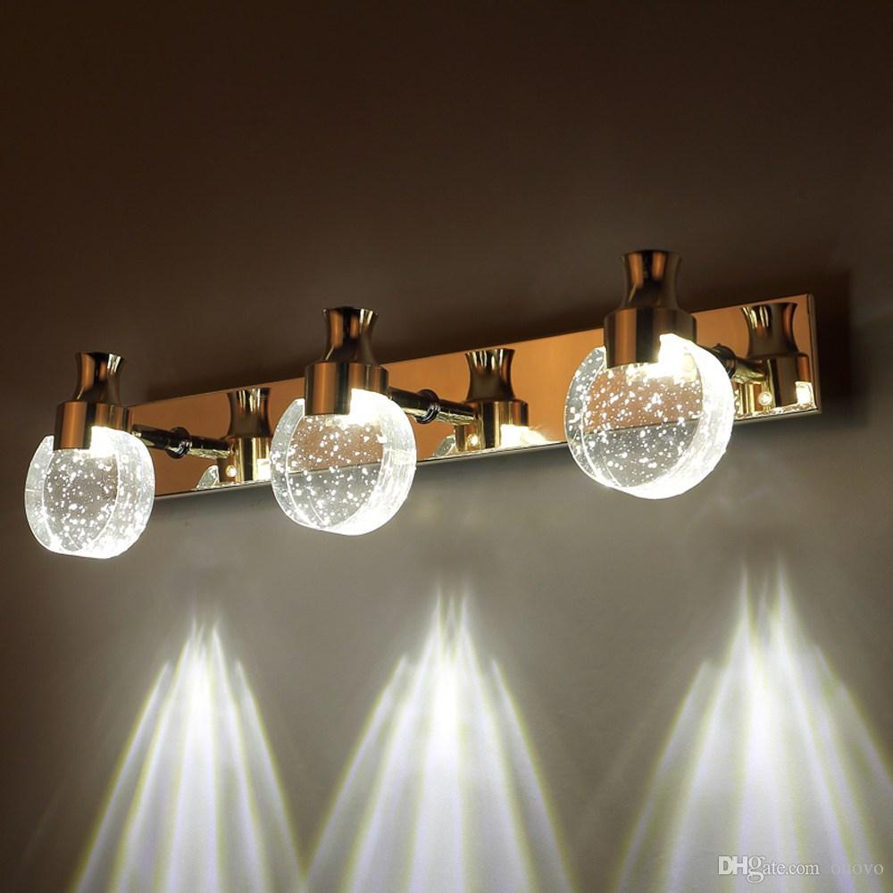 Moderne LED Bubble Crystal Badezimmer Wandleuchte Luxus Spiegel vorne  Wandleuchte Waschraum Parfüm Flasche Kristall Lampenschirm Wandleuchte