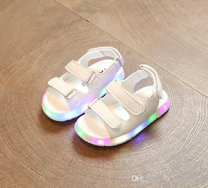 ef3d08fa7e611 Led Hot Baby Soles With Light Kids Glow Charging Child Sandals ...
