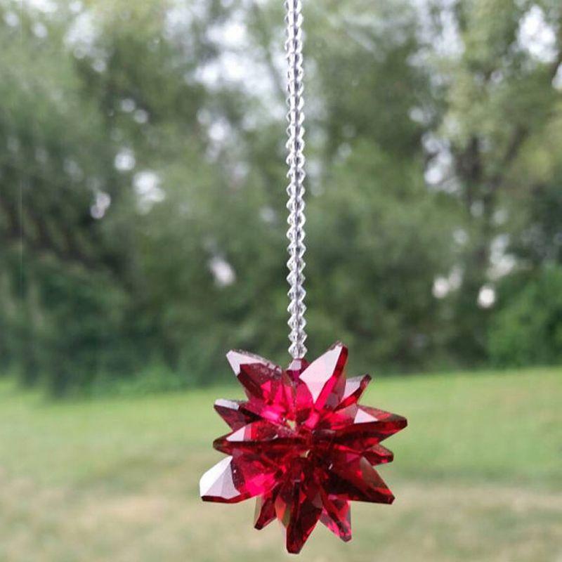10 STÜCKE K9 Kristallglas Regenbogen Suncatcher Prism Hängende Kristall Perlen Anhänger Handgemachte Ornament Hochzeit Decor W011