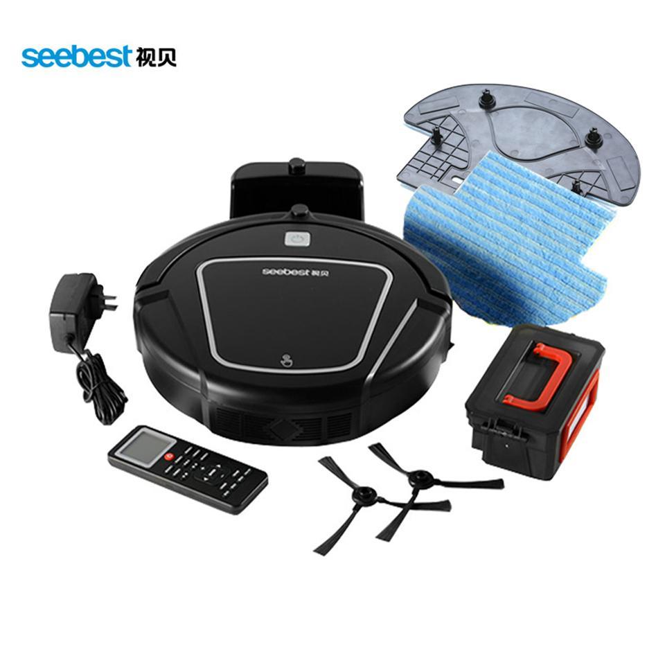 Seebest D720 مكنسة كهربائية روبوت للتنظيف الجاف مع فرشاة كبيرة للشفط 2 فرشاة جانبية الجدول الزمني اكتساح الشعر Clean MOMO 1.0