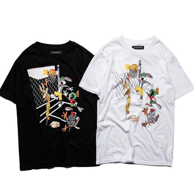 2017 Lustige Bugs Bunny T-Shirt Männer Frauen Niedlichen Kaninchen Cartoon Gedruckt Tops Tees Casual Baumwolle Kurzarm Sporting T-shirts