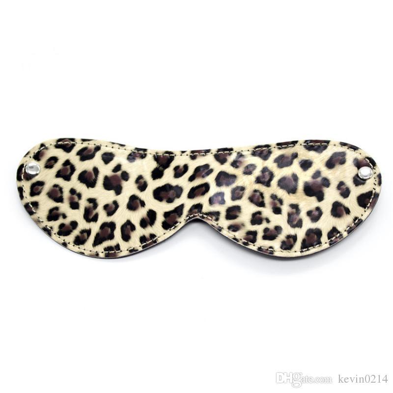 SM Sex Slaves Toys 10 unids / set con Leopardo Eyepatch Collar Boca Gag Esposas Grillete Cuerda de Algodón Whip Posicionamiento Erótico Vendaje J-11