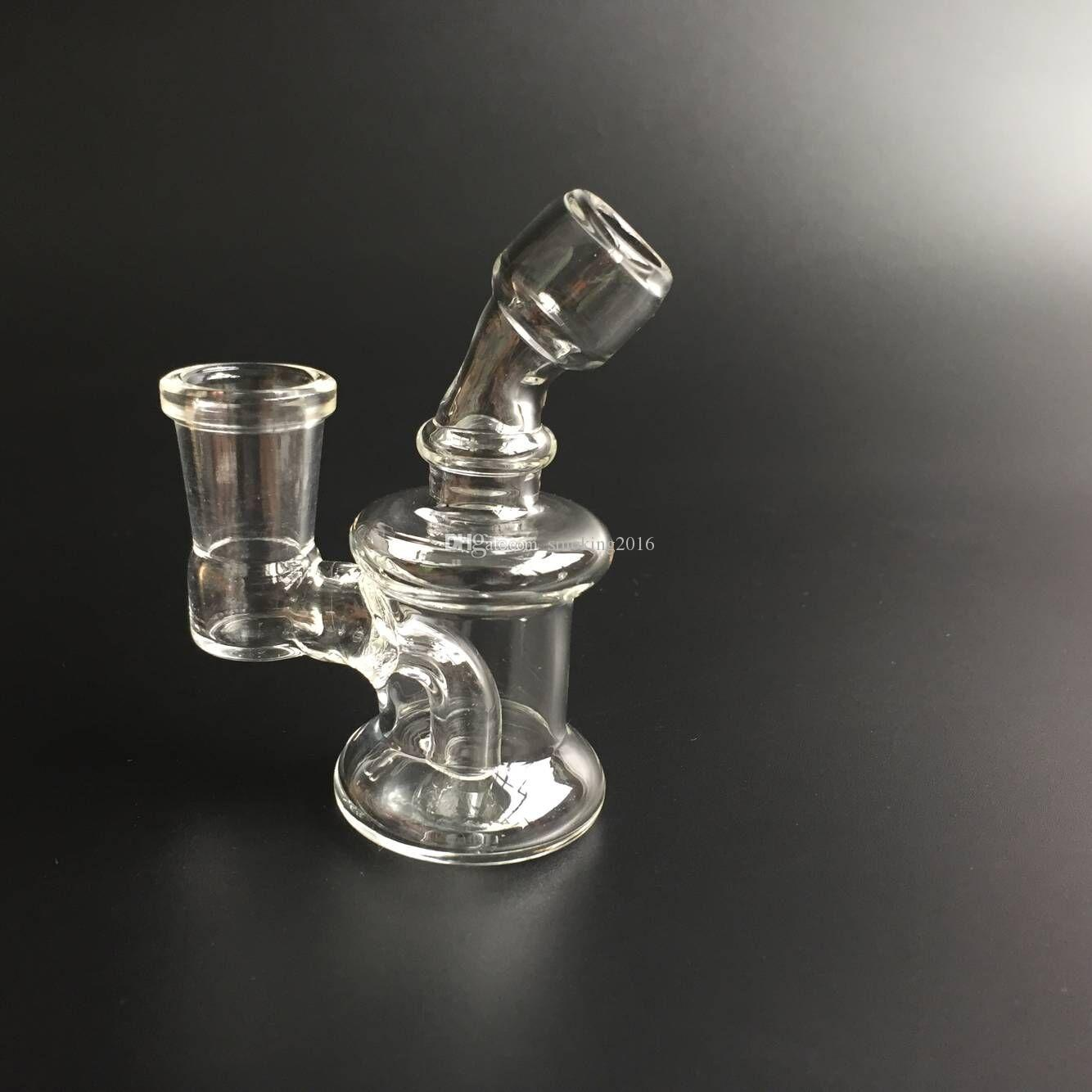 Nano Rig 3.4Inch 14.4mm joint Bongs De Verre Rig Fab Oeuf Bongs Rig Rig Dabs Verre Rouge Huile Gouttes Heady Recycler livraison gratuite