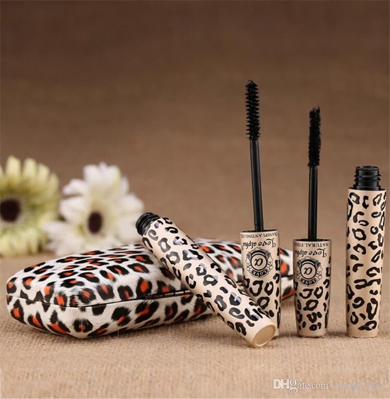Love Alpha 3D Mascara Waterproof Thick Mascara Eyelash Fiber + Gel eyeliner set with Retail Box Opp Bag Free DHL Shipping