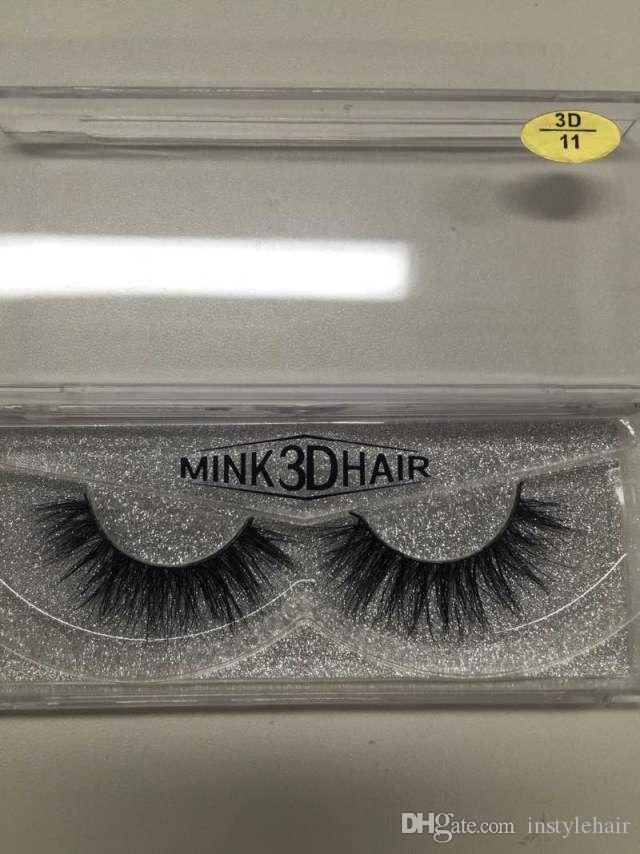 Mink Fake Eyelash Natural Long Thick False Eyelashes Hand Made High Quality Mink Lashes Eye Makeup Brushes Eyelash