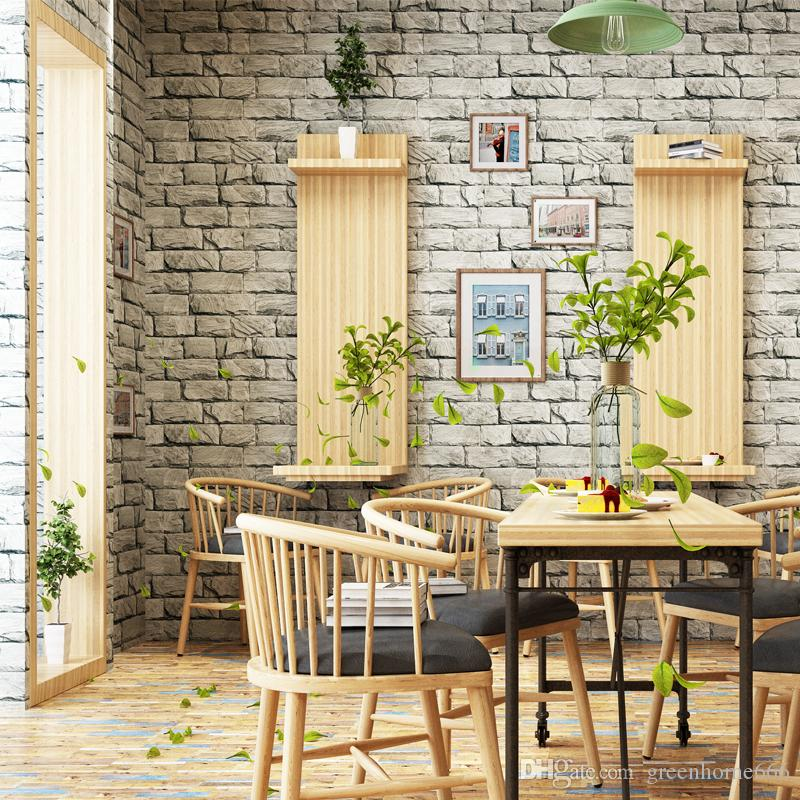 Modern Design Brick Wallpaper Retro Wallpaper Patterns Pvc ...