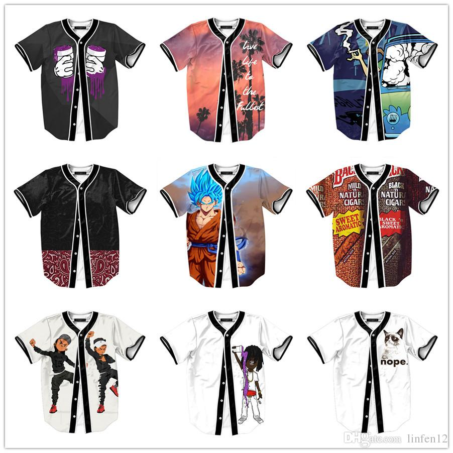 New Fashion Hip Hop Dancing Guys Jersey 3d All Over Print Baseball T Shirt  Summer Men Cool Sport Streetwear Tops Clothes Online T Shirts Buy In T  Shirts ... 94ff18edc