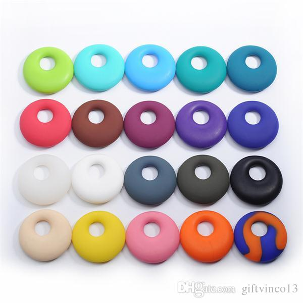 Food Grade Silicone Teethers Nursing Pendant Teething Necklace Round Beads Baby Teething Necklace Jewelry Wholesale