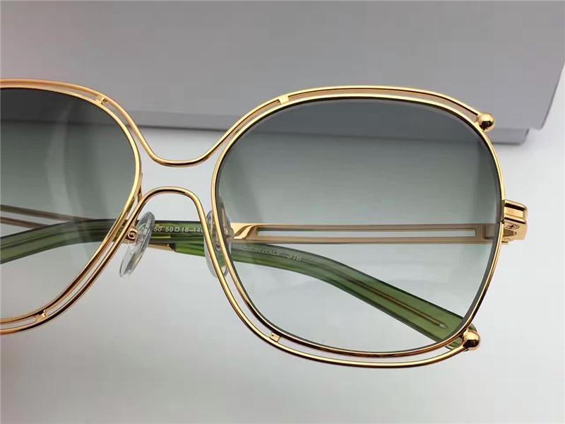 new fashion sunglasses CL129 round crystal frame france designer women fashion sunglasses UV400 lens big frame summer style