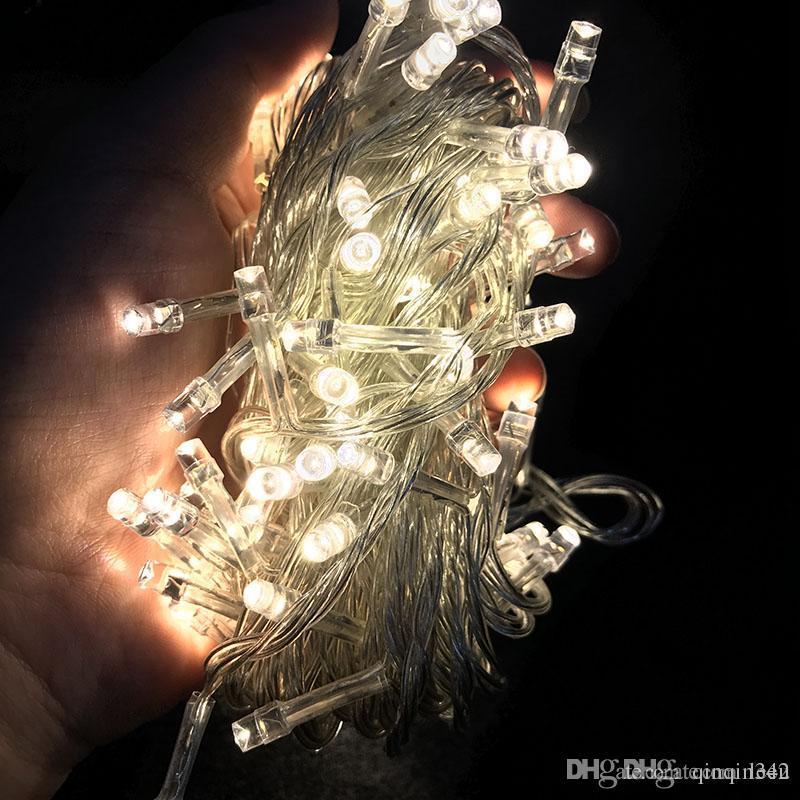 Weihnachtslicht Urlaub Verkauf im Freien 10m 100 LED-Schnur 8 Farben Wahl Rot / Grün / RGB Lichterketten wasserdichtes Partei-Weihnachtsgarten-Licht
