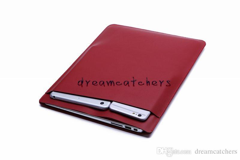 Custodia protettiva di lusso Retina Custodia a doppio ponte Tasca laptop Macbook Borse Custodia protettiva in pelle PU Apple MacBook air 11 13 12 pollici