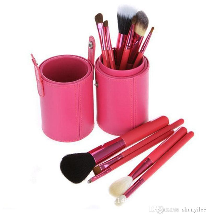 / 메이크업 도구 브러쉬 Fashional 화장품 브러쉬 세트 키트 도구 5 색 얼굴 컵 홀더 케이스 ZA2032 브러쉬를 확인하십시오