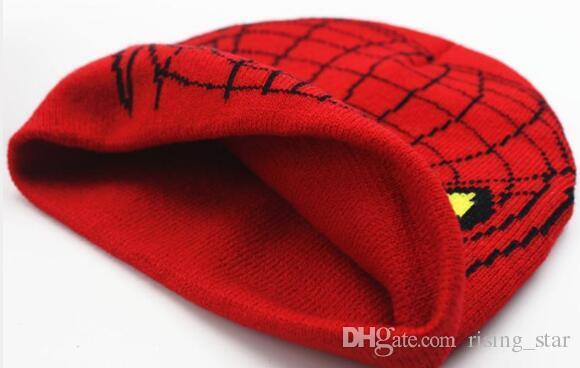 Children Boys Girl Spider-man Knitted Crochet Beanies Cap Hats Sets Baby Cartoon Kids Winter Warm Gloves 1-5Years XMAS Gifts