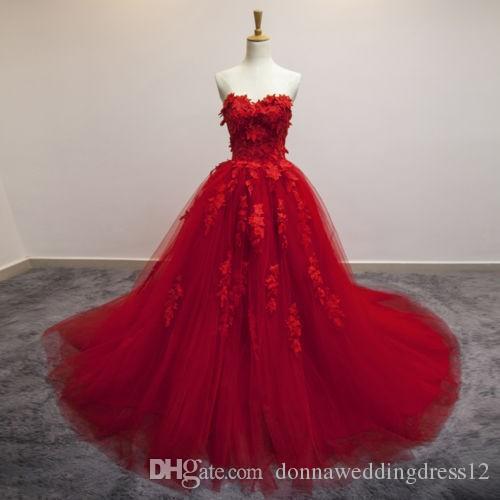 Red/Blue Evening Dress 2017 Romantic Applique Sweetheart Floor Long Formal Sleeveless Formal Dress Pregnant Women Prom Dresses