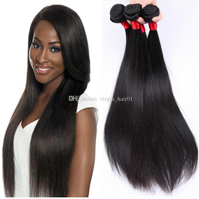 Brazil Straight Hair Products Cheap Brazilian Human Hait 100g bundle Factory Outlet Price No Tangle No Shed