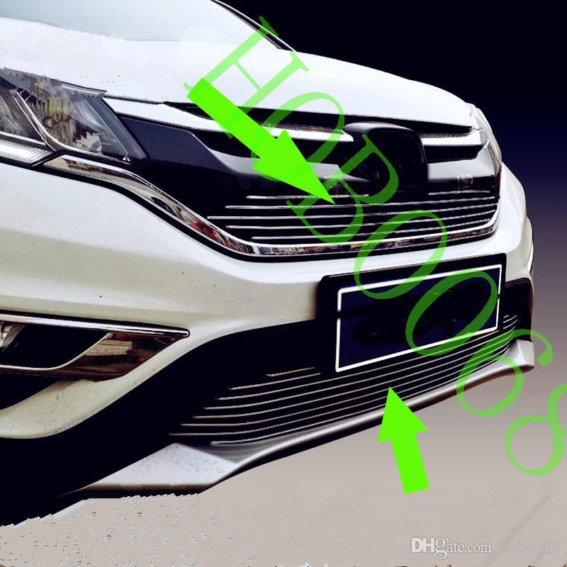 pour Honda CRV CRV 2015-16 Couverture Car Grille Métal Stripes garniture inférieure Grill