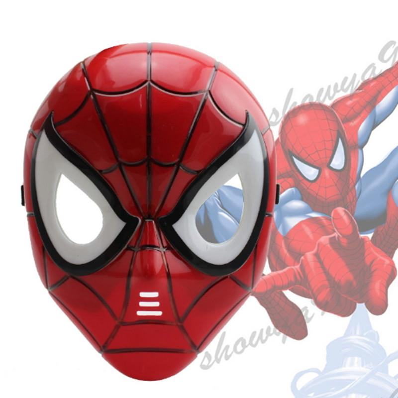 spider man mask led masquerade children full face pvc cosplay