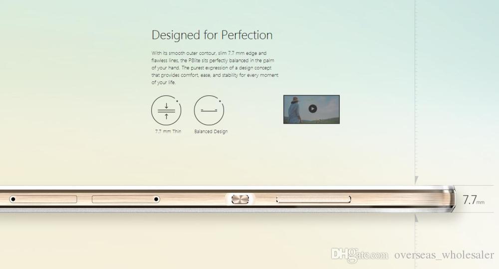 Оригинал Huawei P8 Lite ALE-UL00 4G LTE сотовый телефон Hisilicon Kirin 620 Octa Core 2 ГБ ОЗУ 16 ГБ ПЗУ 5.0 дюймов HD 13.0MP OTG Смарт-сотовый телефон Новый