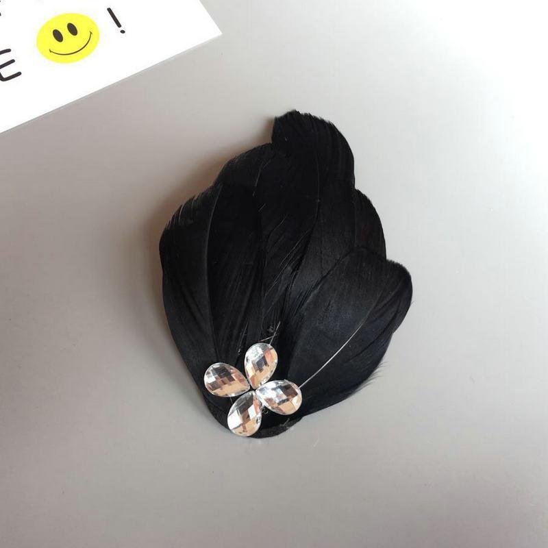 Capelli del copricapo della donna Sposa, piuma bianca, cappellino, fermacapelli, copricapo, balletto, cigno, spettacolo teatrale, bambino, adulto