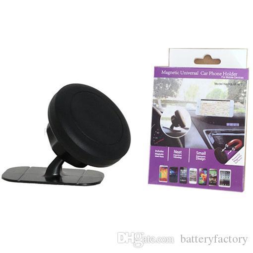 Universal 360 Grad drehbarer magnetischer Auto-Telefon-Halter-Armaturenbrett klebriger Berg-Handy-Magnet-Halter für iphone mit Kleinkasten